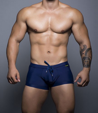 Andrew Christian Black Collection Bellport Trunk 四角泳褲 (海軍藍)_cover