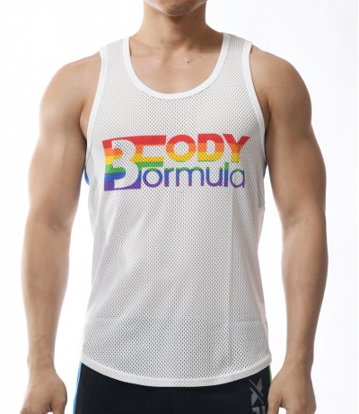 3D MESH Proud Sport Tank Top (White)