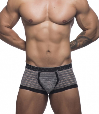 Sheer Stripe Boxer w/ Almost Naked (Grey-black)