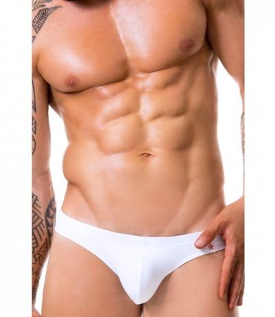 SUNNY MENS SWIMWEAR BRIEF 三角泳褲 (白色)(图)