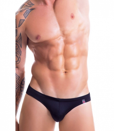 SUNNY MENS SWIMWEAR BRIEF 三角泳褲 (黑色)(图)
