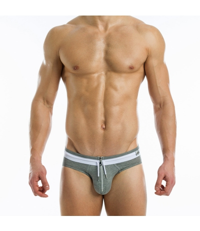 ZIPPER BRIEF (Grey)