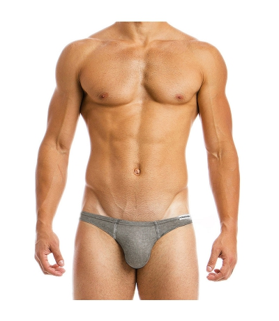 MOHAIR LOW CUT BRIEF (Grey)