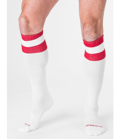 BARCODE FOOTBALL SOCKS (White)