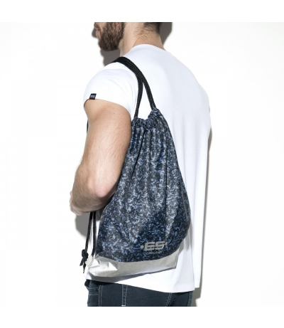 PIXEL CAMO REVERSIBLE BACKPACK ES束口袋 (鐵灰色)(圖)
