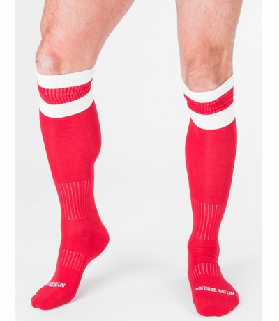 BARCODE FOOTBALL SOCKS 襪子 (红色)(图)