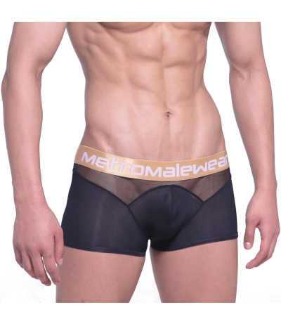 [M2W] Speed Mesh Hip Trunk Black 四角內褲 (黑色)(圖)