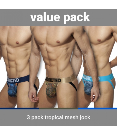 【PRE-ORDER】3 PACK TROPICAL MESH JOCK PUSH UP (3 PACK)