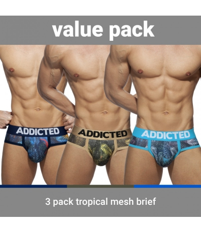 【PRE-ORDER】3 PACK TROPICAL MESH BRIEF PUSH UP (3 PACK)