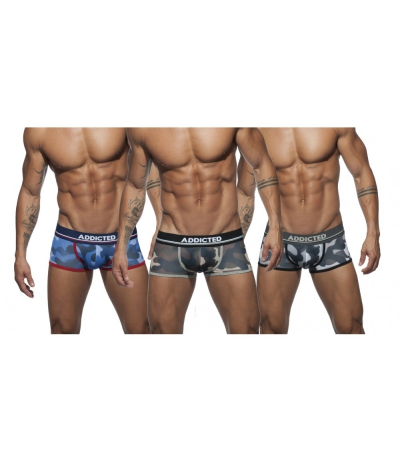 【PRE-ORDER】3 PACK CAMO MESH BOXER PUSH UP (3 PACK)