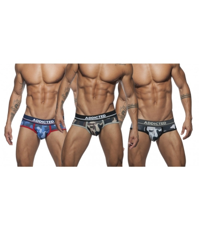【PRE-ORDER】3 PACK CAMO MESH BRIEF PUSH UP (3 PACK)