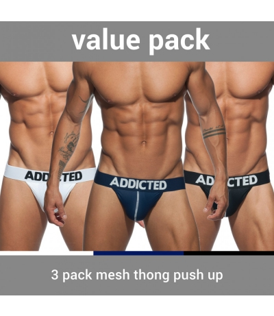 【PRE-ORDER】3 PACK MESH THONG PUSH UP (3 PACK)
