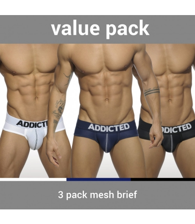 【PRE-ORDER】3 PACK MESH BRIEF PUSH UP (3 PACK)