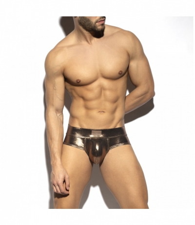 SHINY TRENDY PUSH UP BRIEF (Golden)